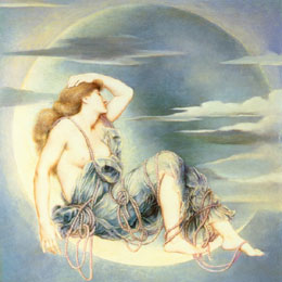 Kunst: Evelyn De Morgan, Luna